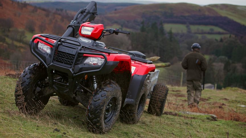 Honda Foreman 500 All Terrain Quad Bike Front View