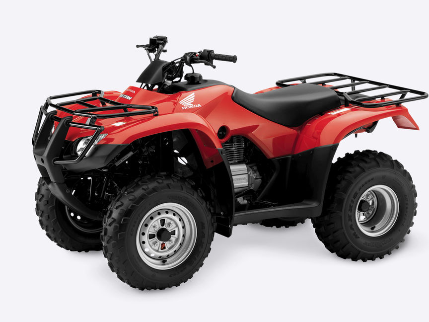 Front three-quarter, left facing Fourtrax 250.