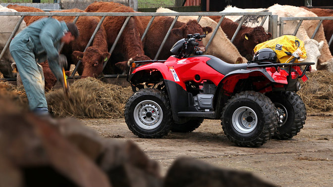 Side view of Fourtrax 250, farm location.