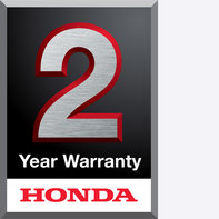 Honda 2 year warranty logo.