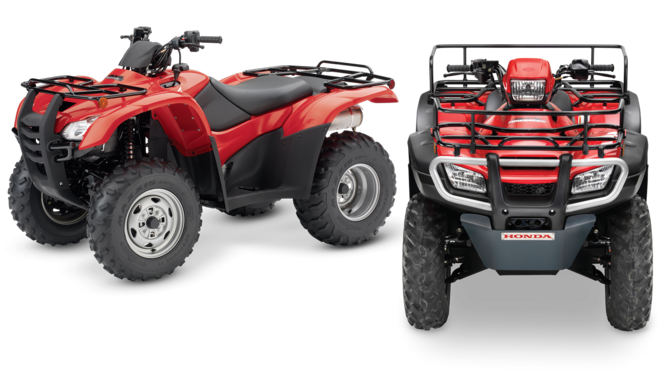 Left: left facing ATV. Right: Front facing ATV.