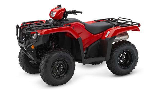 Honda Foreman TRX500 Red Quad Bike Side View