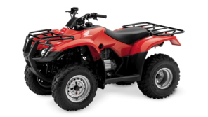 Honda Fourtrax TRX250TM Red Quad Bike Side View