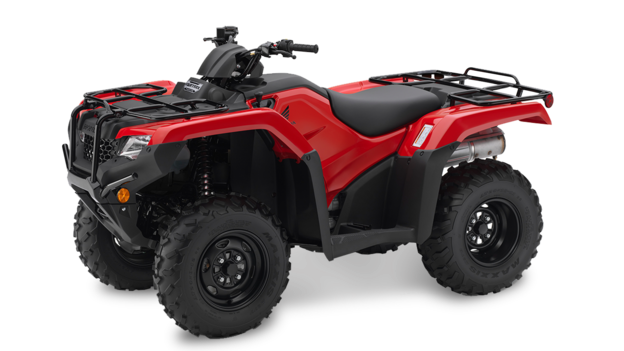 Red Honda Fourtrax TRX420 Quad Bike from The Side