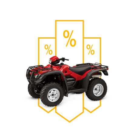 Front three-quarter ATV with offers illustration.