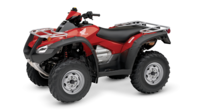 Red Honda Rincon TRX680FA Quad Bike Side View