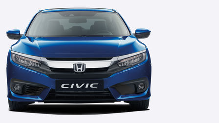 Front facing Honda Civic 4 door.