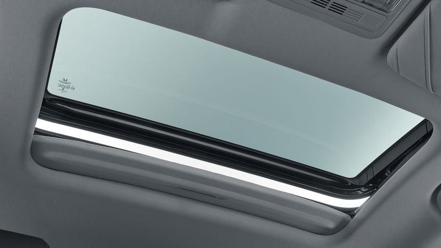 Shot of Honda Civic 4 door sunroof.