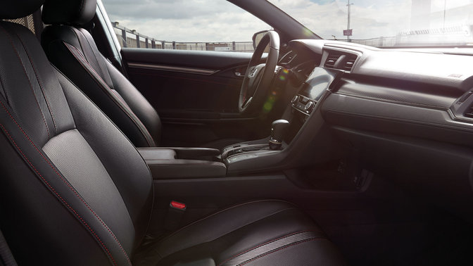 Side view of Honda Civic Sport Line interior.