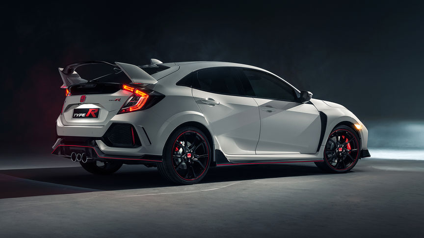 Side facing Honda Civic Type R.