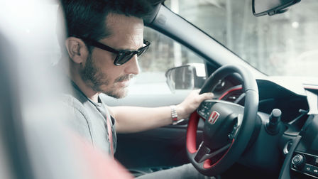 Model using Honda Civic Type R voice recognition system.