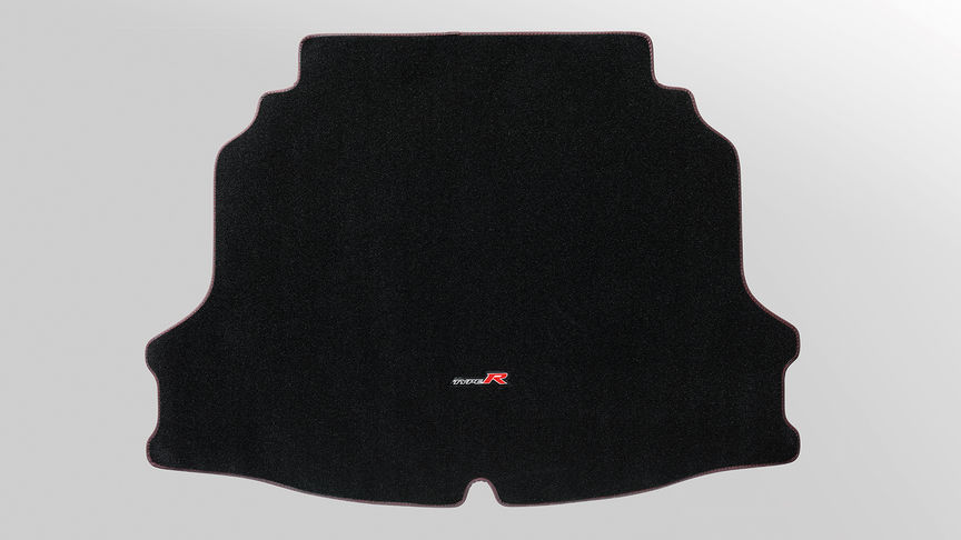 Close up of Honda Civic Type R boot mat.