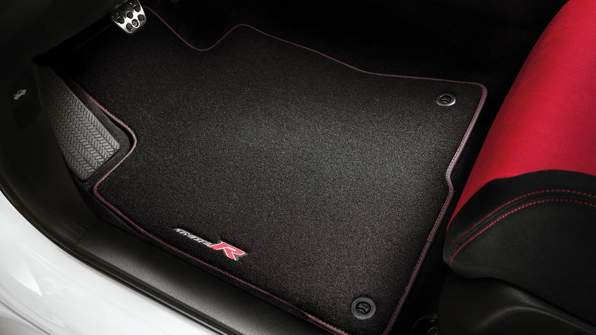 Close up of Honda Civic Type R Elegance Floor carpets.