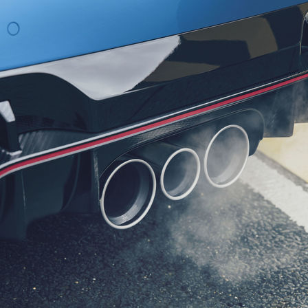 Close up Civic Type R exhaust.