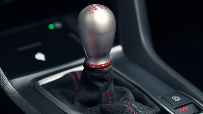 Close up of gear stick