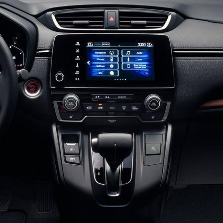 Close up shot of Honda CR-V infotainment system.