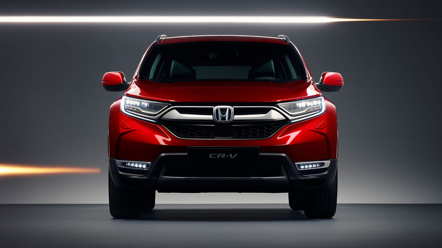 Front facing Honda CR-V to show the exterior features.
