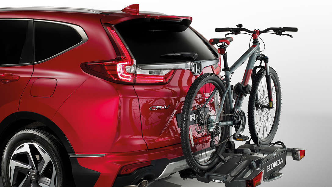 Rear side view of Honda CR-V accessory packs.