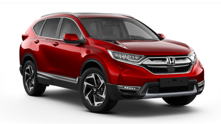 Honda CR-V model comparison illustration.