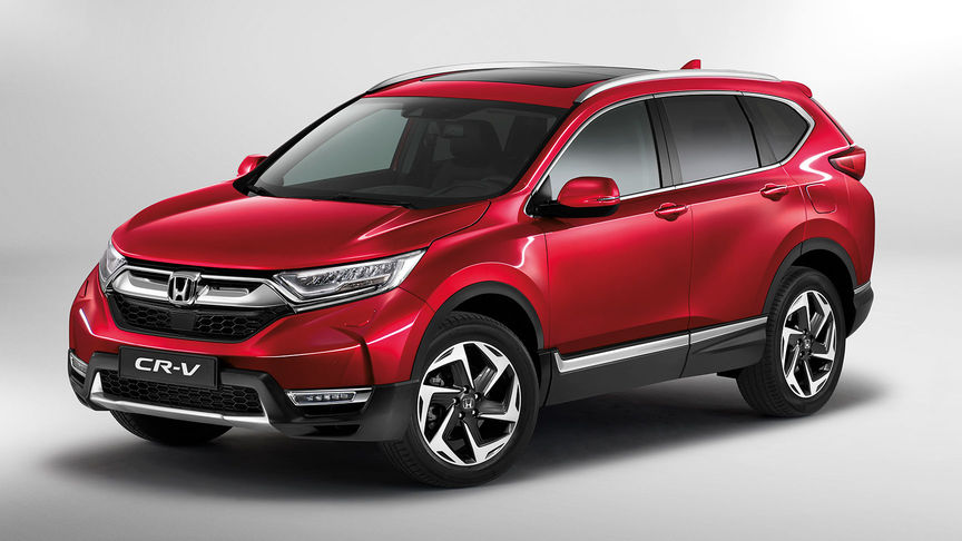 Front three-quarter facing Honda CR-V.
