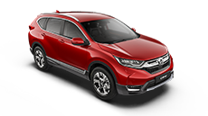 Honda CR-V red.