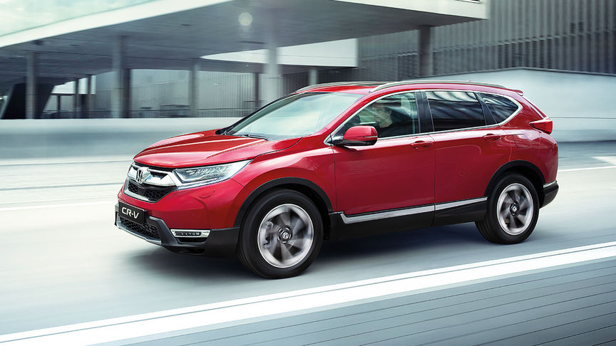 Honda CR-V red side view