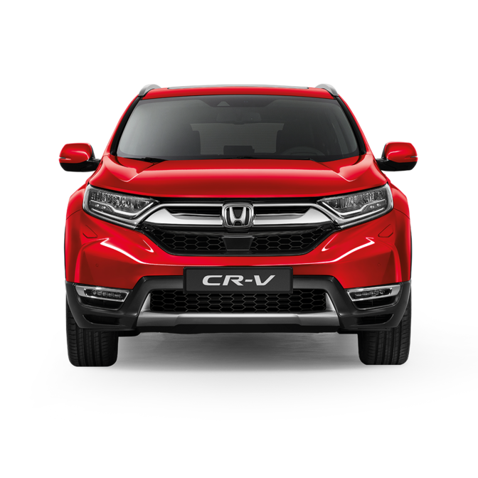 Front facing Honda CR-V.