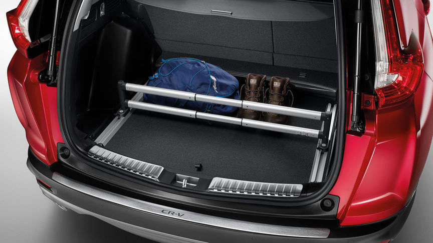 Rear view of the Honda CR-V cargo pack.