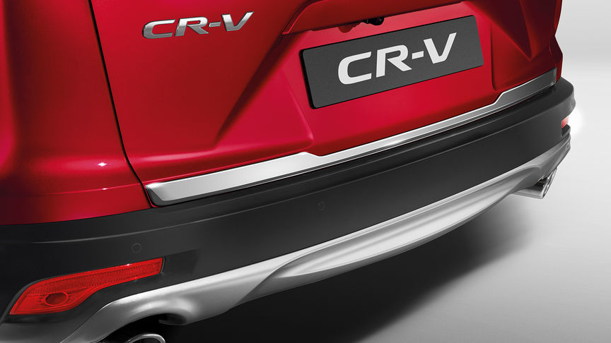 Close up view of the Honda CR-V tailgate decoration.