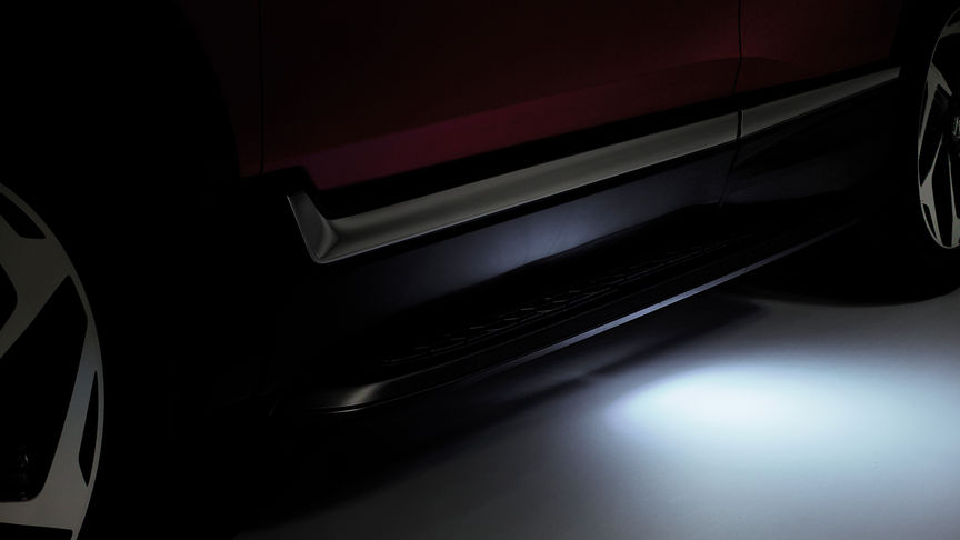 Close up view of the Honda CR-V puddle lights.