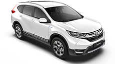 Honda CR-V Hybrid white.