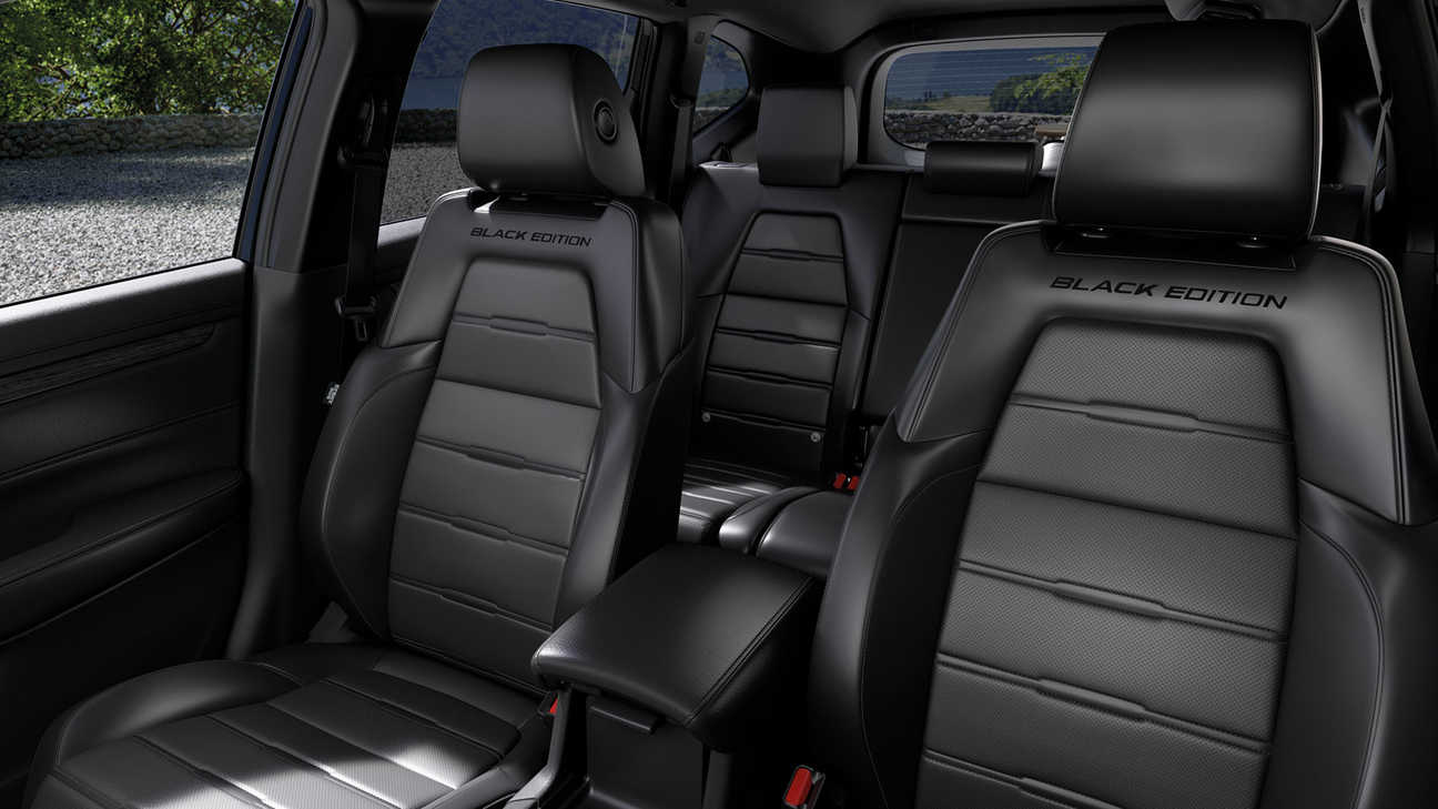 Beautifully-stitched Black Edition leather seats