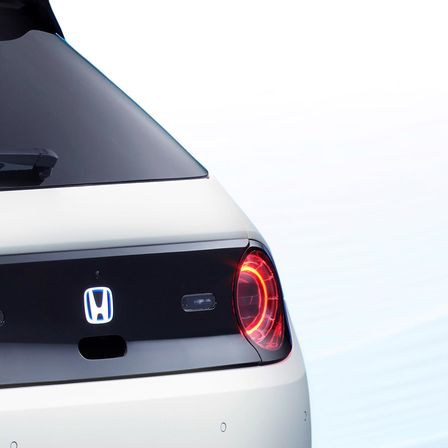 Rear three-quarter facing Honda Urban EV Concept.