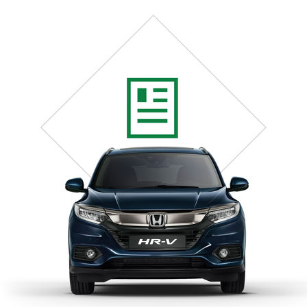 Illustration of Civic Hatch front view, with tool icons