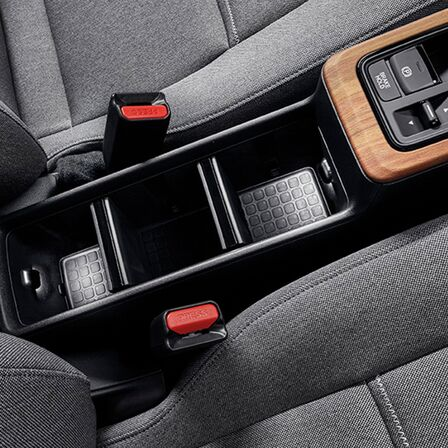 Close up of the center console
