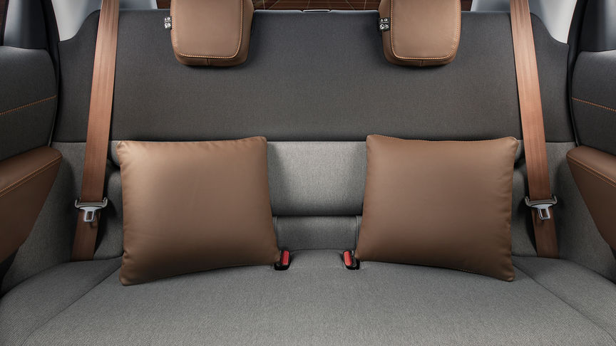 Rear seats with Leather Cushion Set / Dark Brown
