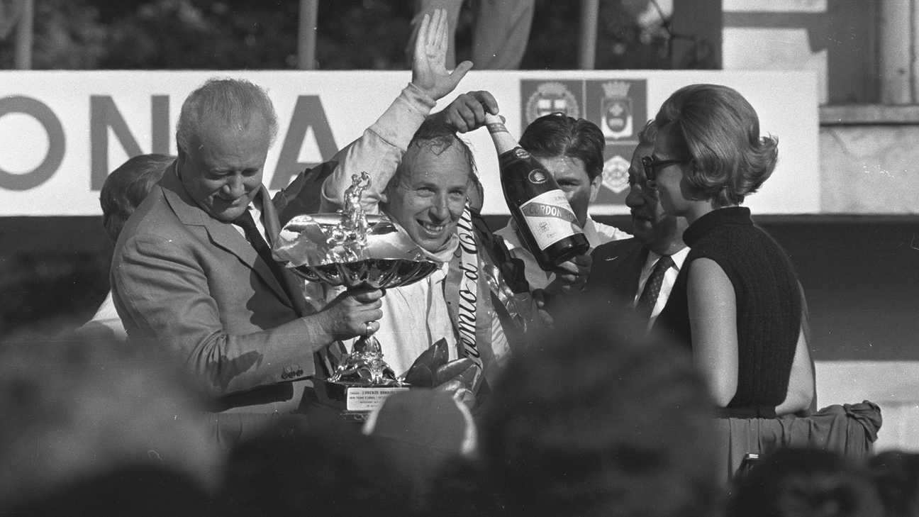 John Surtees at our second Formula 1 win at Monza.