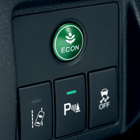 Honda HR-V close up of Econ button.