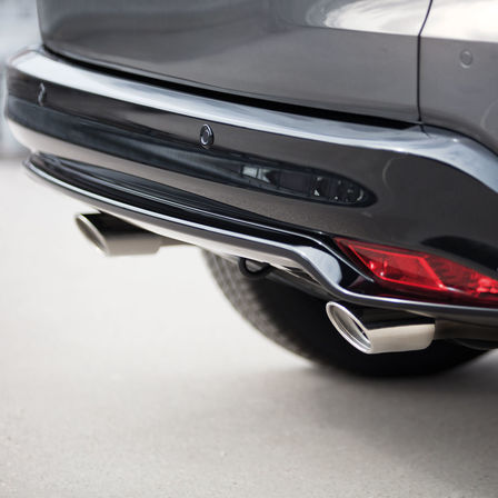 Close up of Honda HR-V Sport twin exhausts.