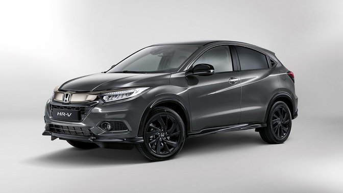Side three-quarter facing Honda HR-V Sport.