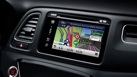 Honda HR-V close up of the infotainment system.