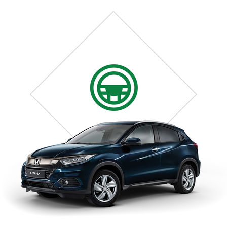 Honda HR-V brochure illustration.
