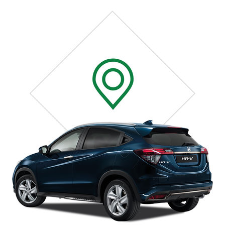 Honda HR-V dealer illustration.