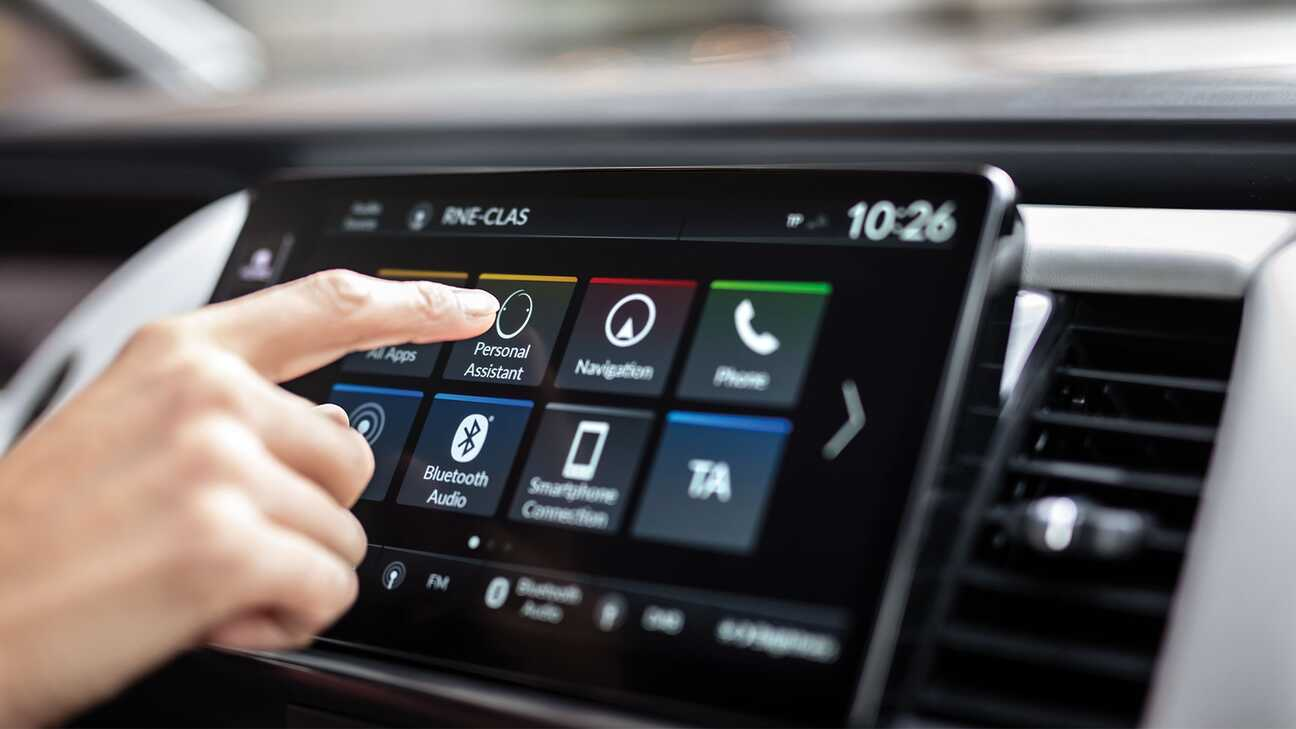 Close up of dash with Honda Personal Assistant