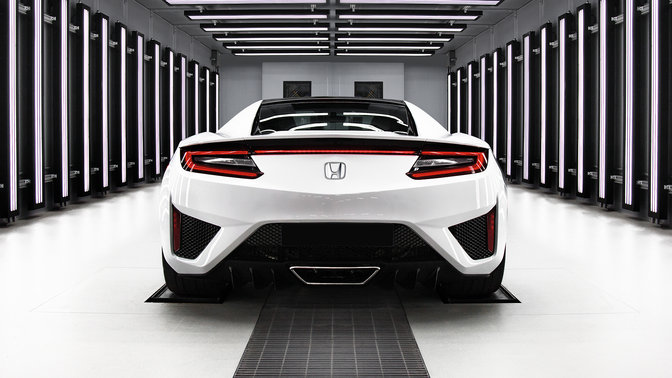 Rear view of NSX
