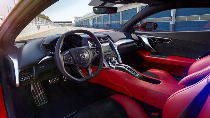 Three-quarter Honda NSX interior shot.
