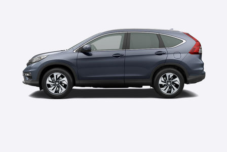 Side facing Honda CR-V.