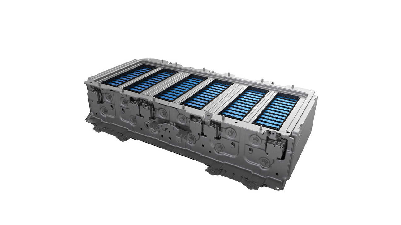 Close-up of Honda Hybrid Litium-Ion Battery.