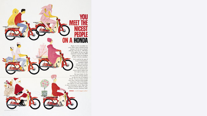 An Advertising Slogan For The Honda Super Cub