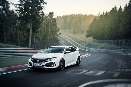 Front three-quarter facing Honda Civic Type R at the Nürburgring.